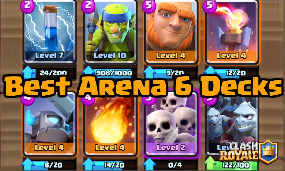 Best decks for arena 6 builders workshop clash for dummies for Deck arene 6 miroir