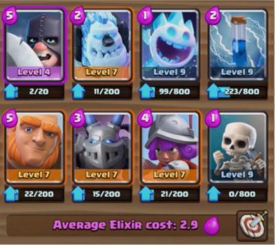 Clash Royale Executioner Giant Deck