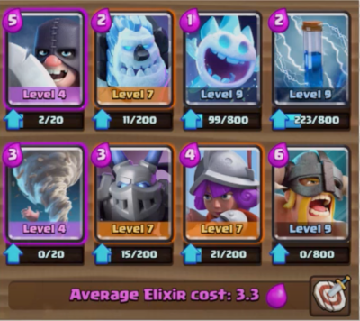 Clash Royale Executioner Elite Barbarians Deck