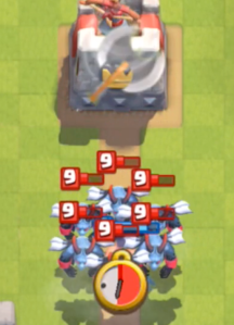 Clash Royale Executioner vs Minion Horde
