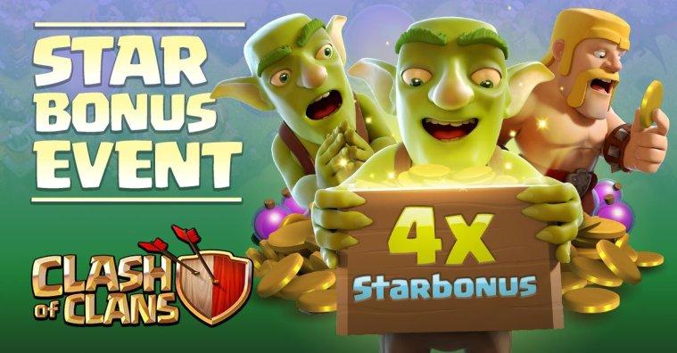 Clash of Clans 4x Star Bonus Event