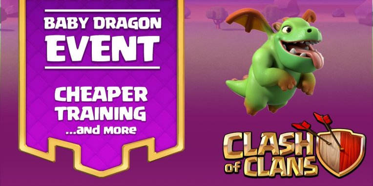 Clash of Clans Baby Dragon Event