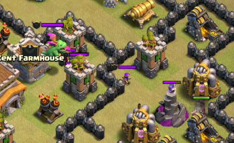 Clash of Clans Town Hall 8 Hog Riders Clan Castle