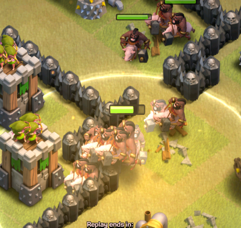 Clash of Clans Town Hall 8 Precision Hog Riders Heal Spells