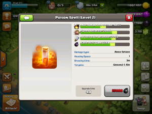 Clash of Clans TH8 Upgrade Order Poison Spells