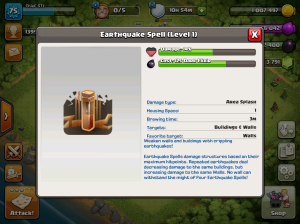 Clash of Clans TH8 Upgrade Order Earthquake Spells