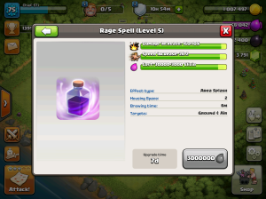 Clash of Clans TH8 Upgrade Order Rage Spells