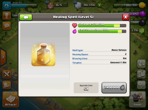 Clash of Clans TH8 Upgrade Order Heal Spells