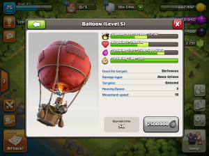 Clash of Clans TH8 Upgrade Order Balloons