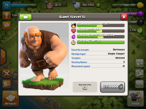 Clash of Clans TH8 Upgrade Order Giants