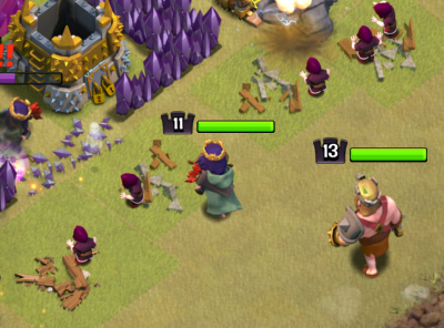 Clash of Clans TH9 GoHo Queen Clan Castle