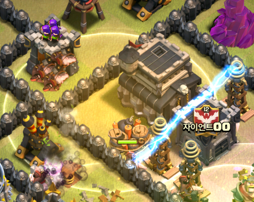 Clash of Clans TH9 GoHo Heal Spells