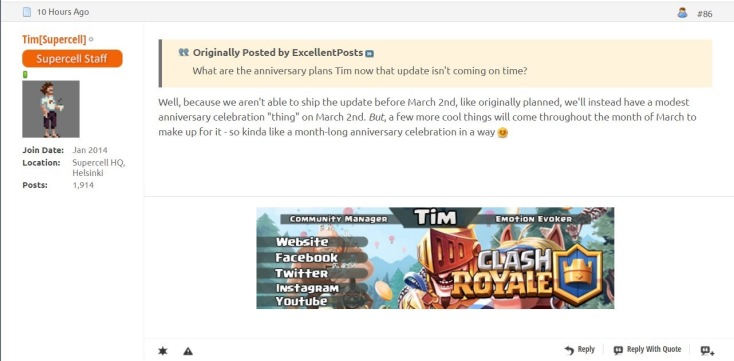 Clash Royale March 2017 Update Changes