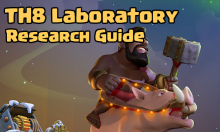 Clash of Clans TH8 Laboratory Research Guide