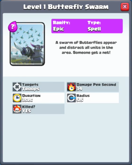 Clash Royale New Card Butterfly Spell