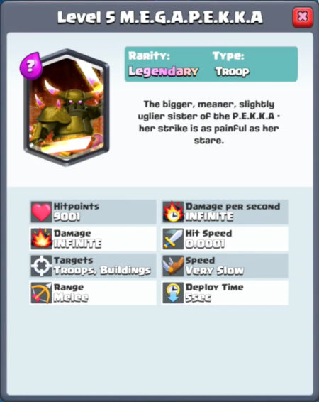 Clash Royale New Card Mega Pekka