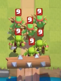 Goblin Gang Log Bait Clash Royale