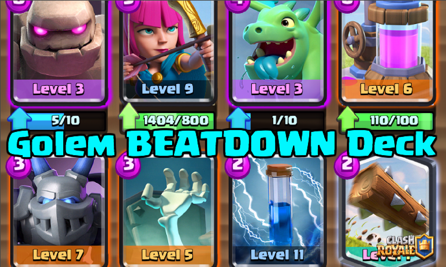 Most Meta Deck 7 Golem Baby Dragon Beatdown Deck Clash For Dummies