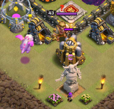 Clash of Clans TH11 Queen Walk Pathing