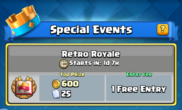 Clash Royale Retro Royale Challenge