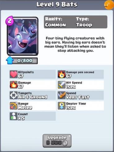 Bats New Clash Royale Card