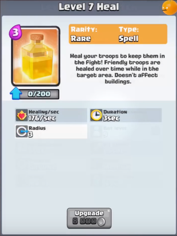 Heal Spell New Clash Royale Card