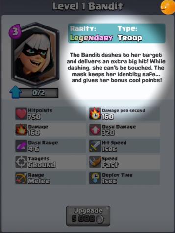Bandit New Clash Royale Card