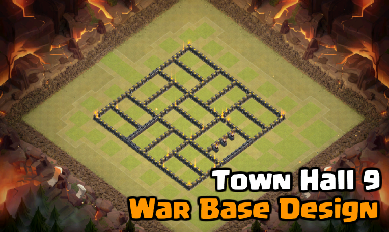 Best Town Hall 9 War Base Design for 2017: Tetragono | Clash With barbs