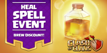 Clash of Clans Heal Spell Event