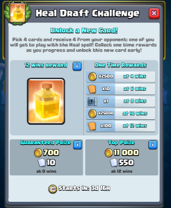 Clash Royale Heal Spell Draft Challenge