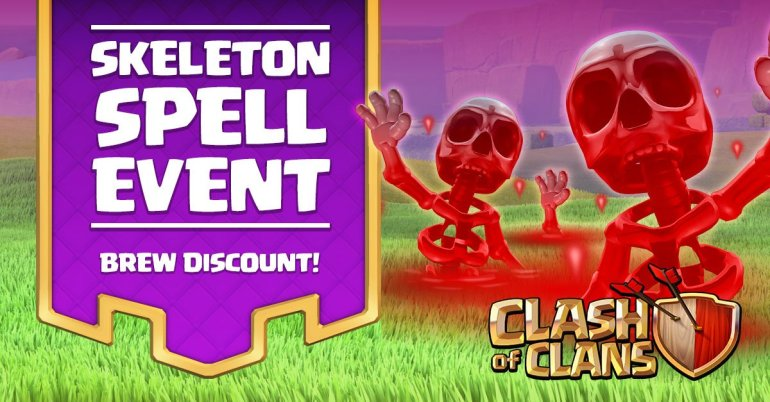 Clash of Clans Skeleton Spell Event