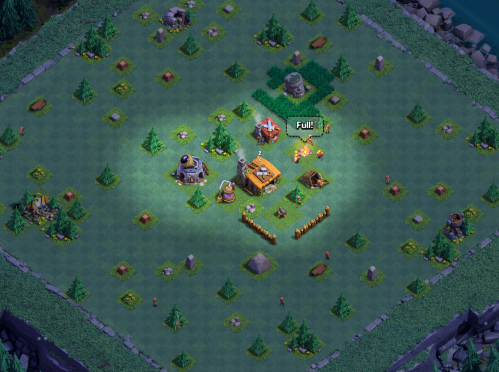 Clash of Clans Builder's Base Builders Hall 2 Base Design Layout