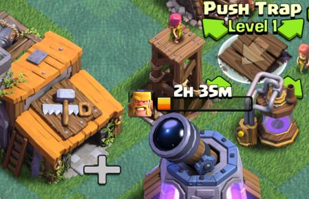 Clash of Clans Builder's Base Base Design Push Trap