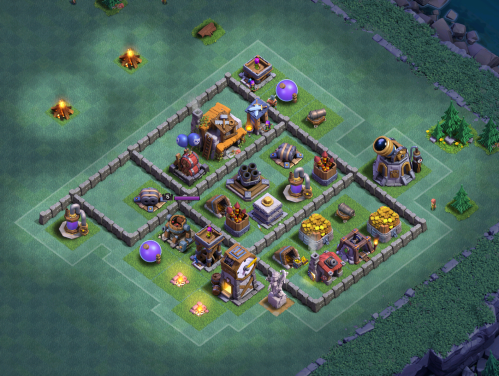 Clash of Clans Builder's Base Builders Hall 5 Base Design Layout