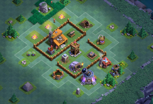 Clash of Clans Builder's Base Builders Hall 3 Base Design Layout