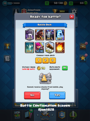 Clash Royale Update Ideas Battle Confirmation