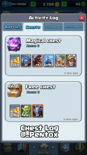 Clash Royale Update Ideas Chest Log