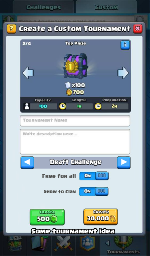 Clash Royale Update Ideas Tournaments