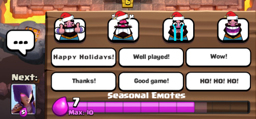 Clash Royale Update Ideas Holiday Emotes