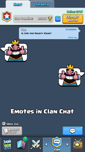 Clash Royale Update Ideas Chat Emotes