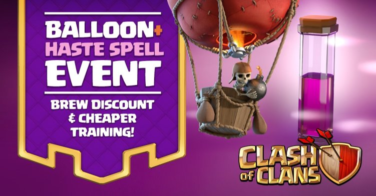Clash of Clans Balloon Zoom Event