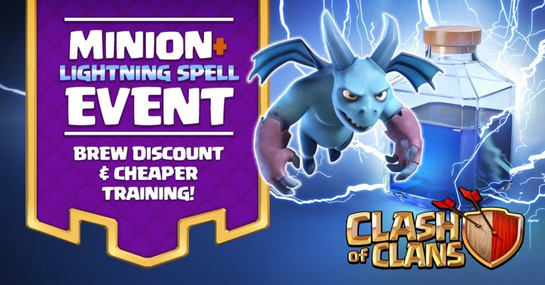 Minion Lightning Spell Event Clash of Clans