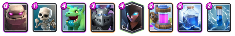 Clash Royale Best Golem Night Witch Deck