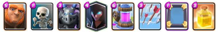 Clash Royale Best Giant Night Witch Deck