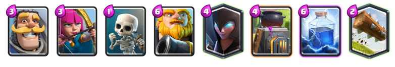 Clash Royale Best Royal Giant Night Witch Deck
