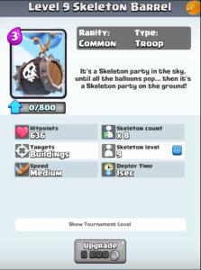 Skeleton Barrel New Troop Clash Royale Update