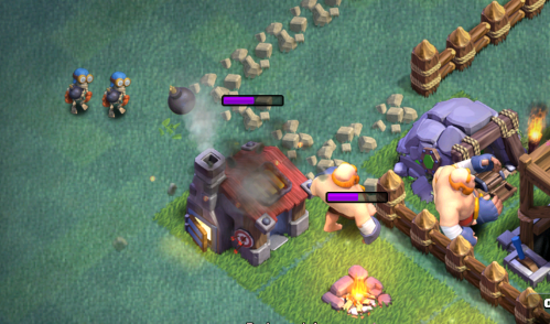 Clash of Clans Builder Hall 4 Strategy Giant Bomber