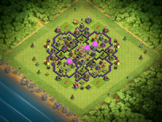 Town Hall 8 Farming Base Layout Clash of Clans