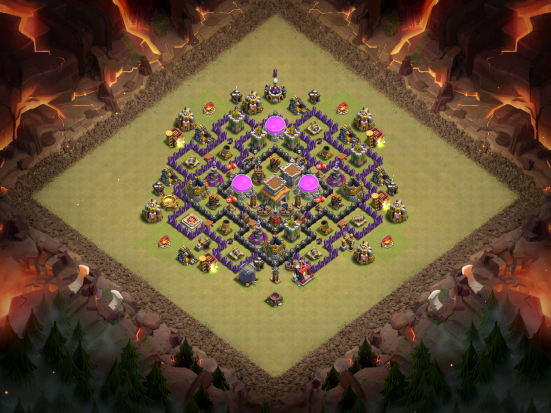 Town Hall 8 War Base Layout Clash of Clans