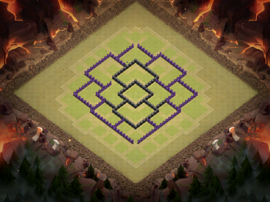 Town Hall 8 Hybrid Base Layout Clash of Clans